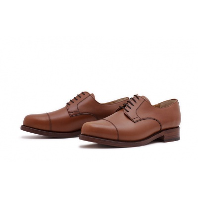 Derby Captoe Cognac Boxcalf