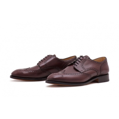 Derby Fullbrogue Burgundy Saddlecalf