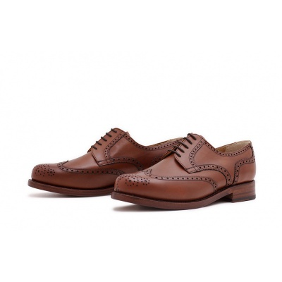 Derby Fullbrogue Cognac Calf
