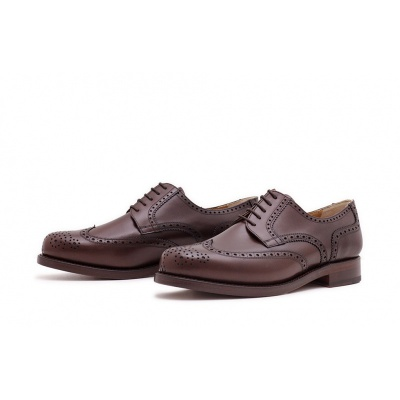Derby Fullbrogue Dunkelbraun Boxcalf