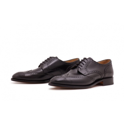 Derby Fullbrogue Schwarz Boxcalf