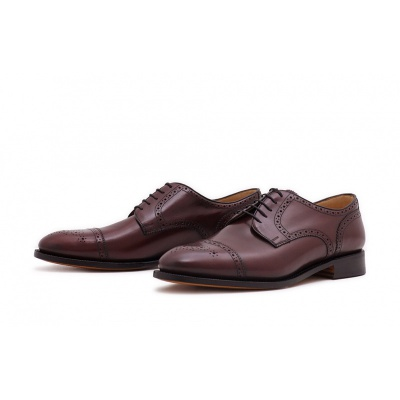 Derby Halfbrogue Burgundy Saddlecalf