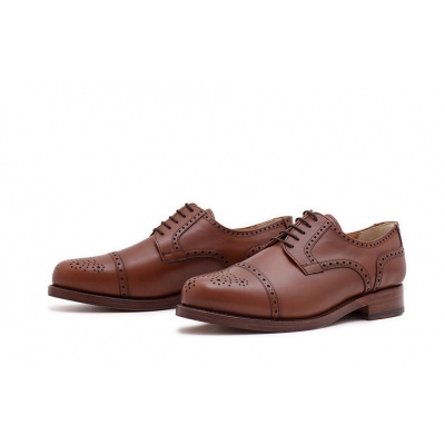 Derby Halfbrogue Cognac Calf