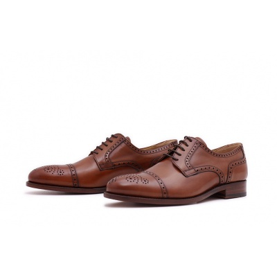 Derby Halfbrogue Cognac Boxcalf