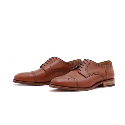 Derby Halfbrogue Hellbraun Saddlecalf