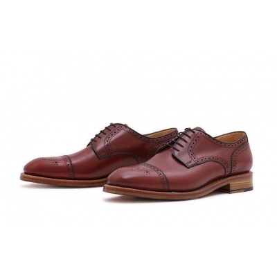 Derby Halfbrogue Rosso Boxcalf
