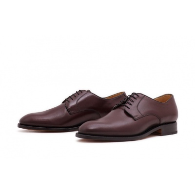 Derby Plain Burgundy Saddlecalf
