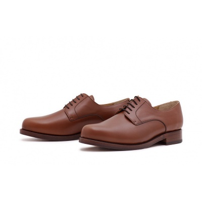 Derby Plain Cognac Boxcalf