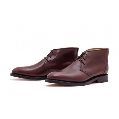 Derby Plain Halbstiefelette Burgundy Saddlecalf