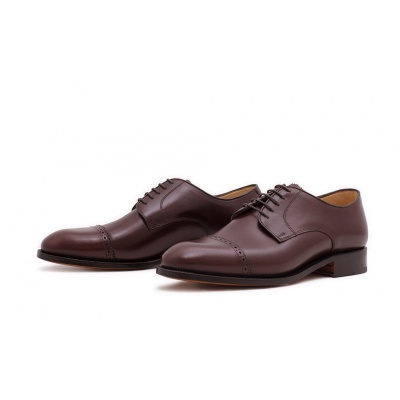 Derby Quarterbrogue Burgundy Saddlecalf