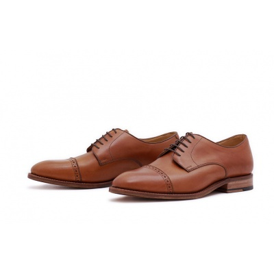 Derby Quarterbrogue Hellbraun Saddlecalf