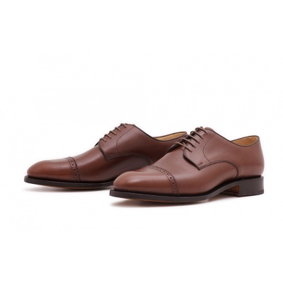 Derby Quarterbrogue Mittelbraun Boxcalf
