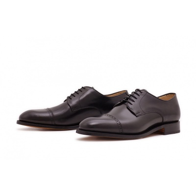 Derby Quarterbrogue Schwarz Boxcalf
