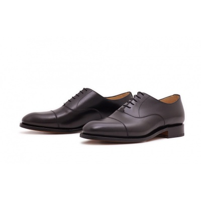 Oxford Captoe Schwarz Boxcalf