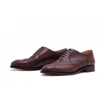 Oxford Fullbrogue Burgundy Saddlecalf