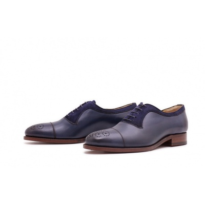 Oxford Halfbrogue Dunkelblau Boxcalf