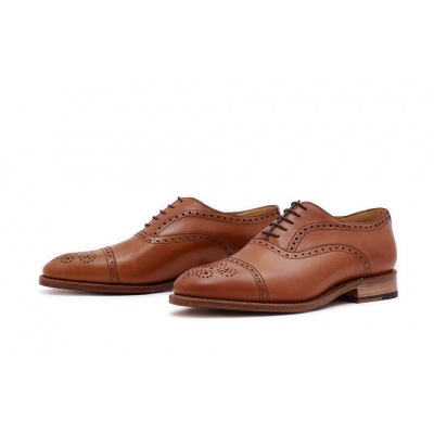 Oxford Halfbrogue Hellbraun Saddlecalf
