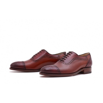 Oxford Halfbrogue Rosso-Burgundy Französisches Boxcalf
