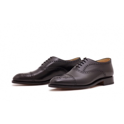 Oxford Halfbrogue Schwarz Boxcalf