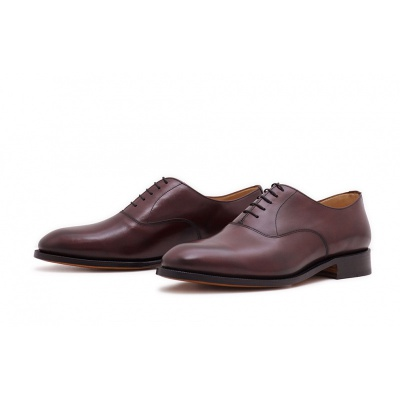 Oxford Plain Burgundy Saddlecalf