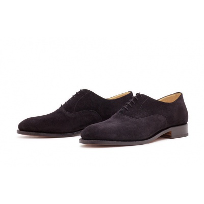 Oxford Plain Schwarz Velourcalf