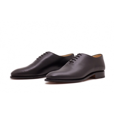 Wholecut Plain Schwarz Boxcalf