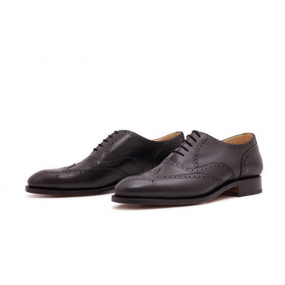 Oxford Fullbrogue Schwarz Boxcalf