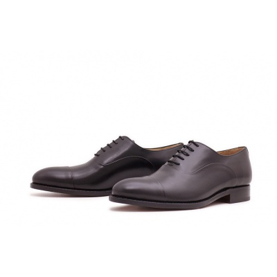 Oxford Captoe Reverse Schwarz Boxcalf