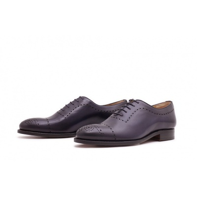Wholecut Halfbrogue Dunkelblau Boxcalf