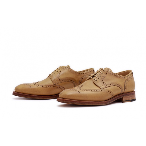 Derby Fullbrogue Naturel Saddlecalf 38