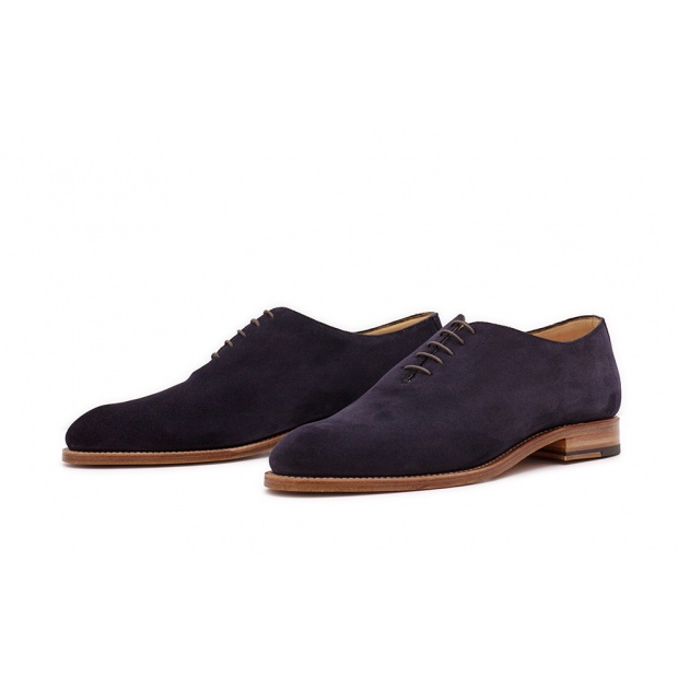 Wholecut Plain Dunkelblau Velourcalf