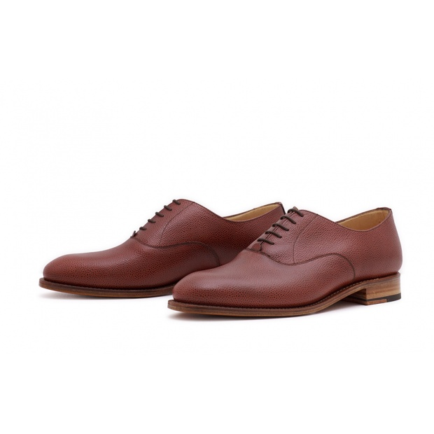 Oxford Plain Mittelbraun Scotchgrain