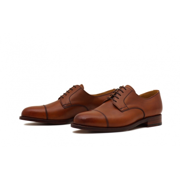 Derby Captoe Cognac Calf