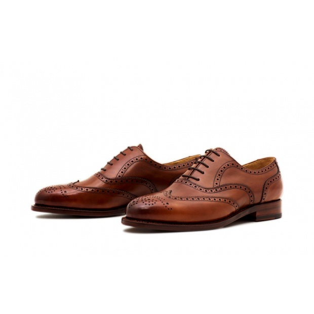 Oxford Fullbrogue Cognac Französisches Boxcalf
