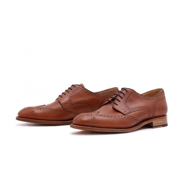 Derby Fullbrogue Hellbraun Saddlecalf
